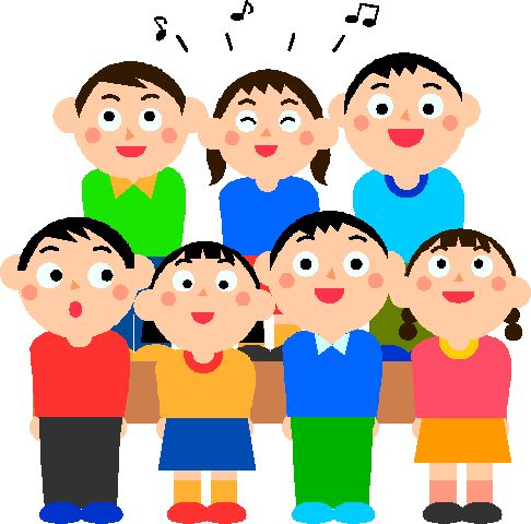 students singing clipart